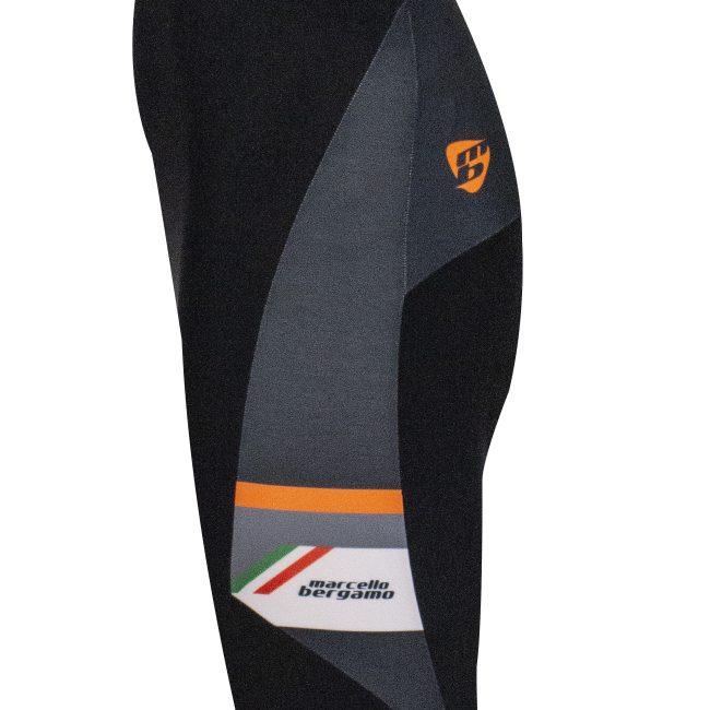 calzamaglia uomo inverno ciclismo LASER NERO ARANCIO Marcello Bergamo